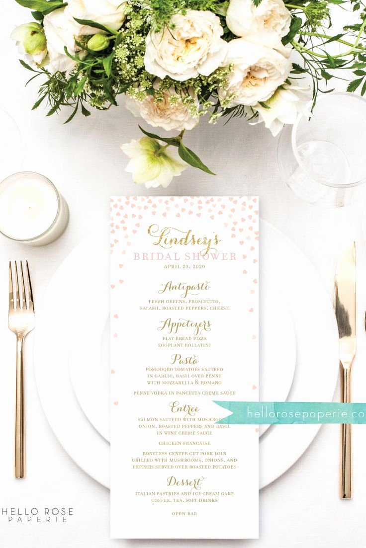 Bridal Shower Menu Template Unique Best 25 Wedding Menu Template Ideas On Pinterest