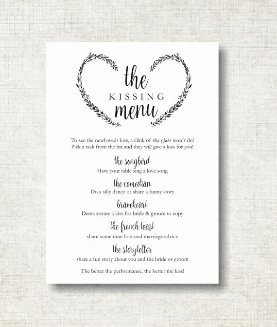 Bridal Shower Menu Template Unique Free Wedding Menu Templates for Mac