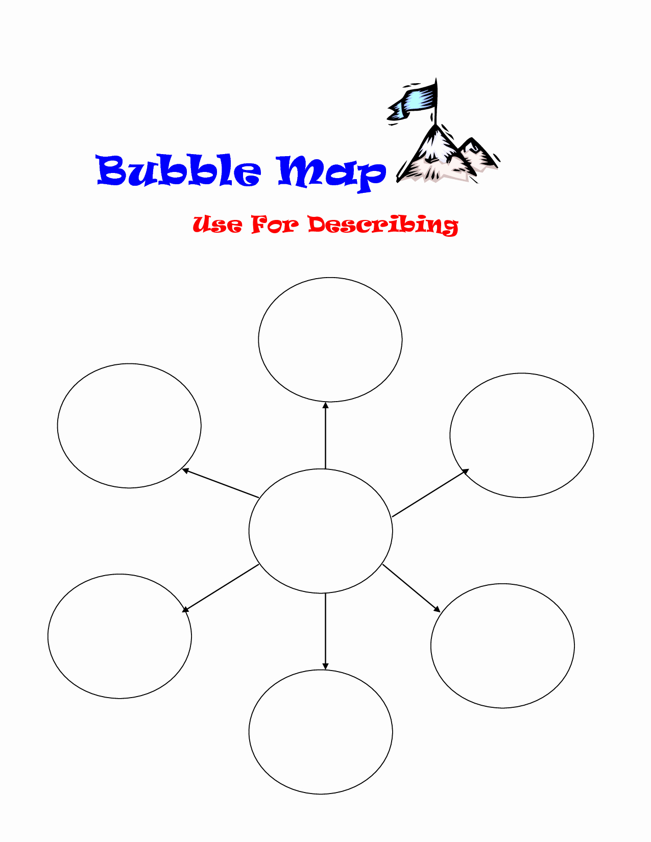 Bubble Map Template Word Lovely Bubble Map Template