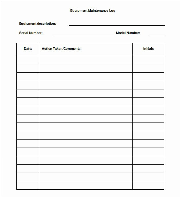 Building Maintenance Log Template Elegant Maintenance Repair Log Template Related Keywords