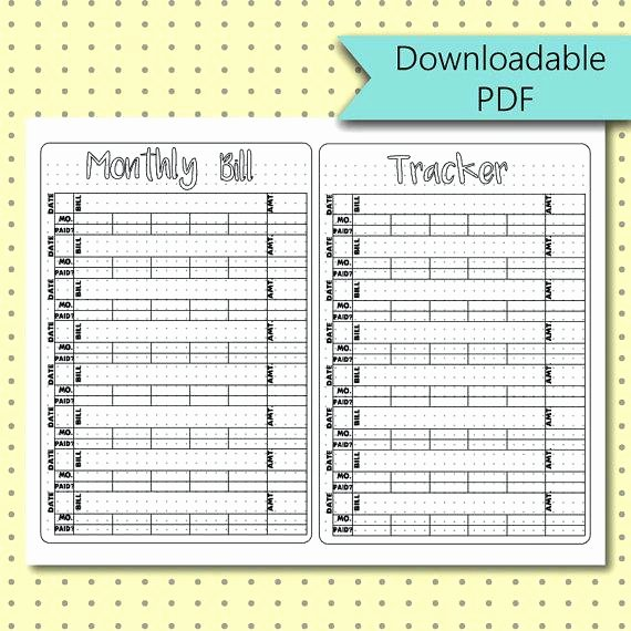 Bullet Journal Excel Template Best Of Monthly Bill Tracker Bullet Journal Stickers Page