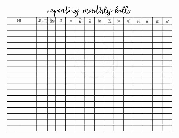 Bullet Journal Excel Template Fresh Free Bud Planner Printables 9 Free Bullet Journal