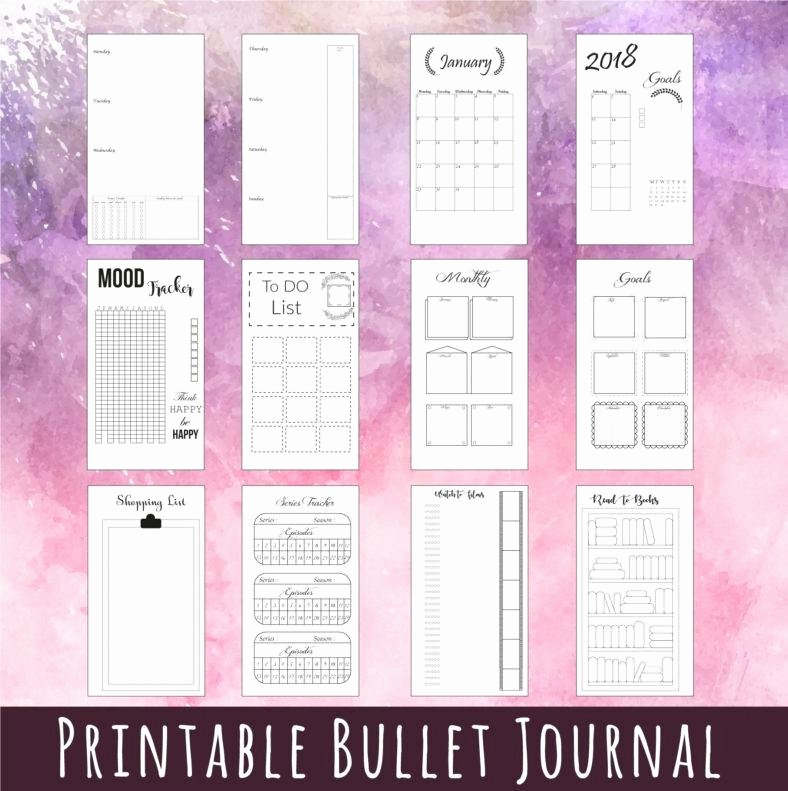 Bullet Journal Excel Template Luxury 5 Bullet Journal Templates Pdf