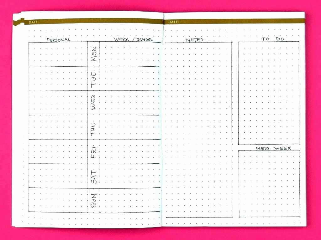 Bullet Journal Excel Template Luxury Bullet Weekly Spreadsheet Template Journal for Weight Loss