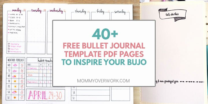 Bullet Journal Pdf Template Awesome top 40 Free Bullet Journal Printables for Serious Bujo Fans