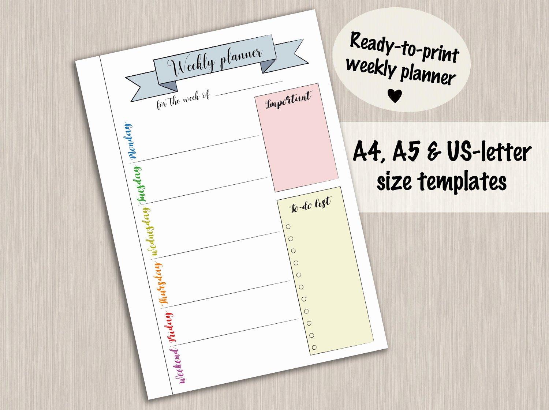 Bullet Journal Pdf Template Elegant Bullet Journal Printable Weekly Planner Template for Bullet
