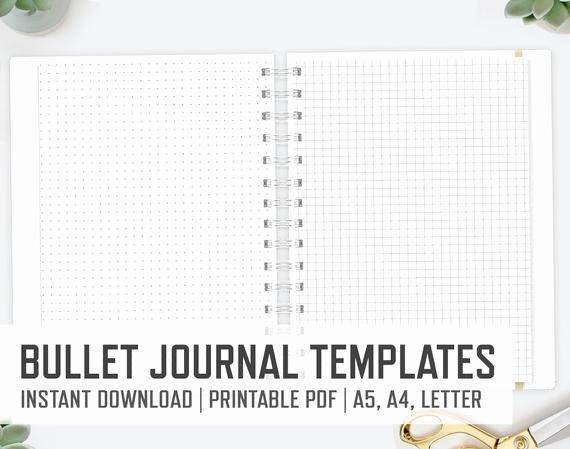Bullet Journal Pdf Template Fresh Bullet Journal A4 A5 Letter Bullet Journaling Templates