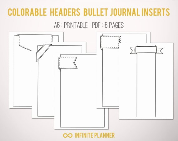 Bullet Journal Pdf Template Lovely Cute Page Template 5 Pages Bullet Journal Printable
