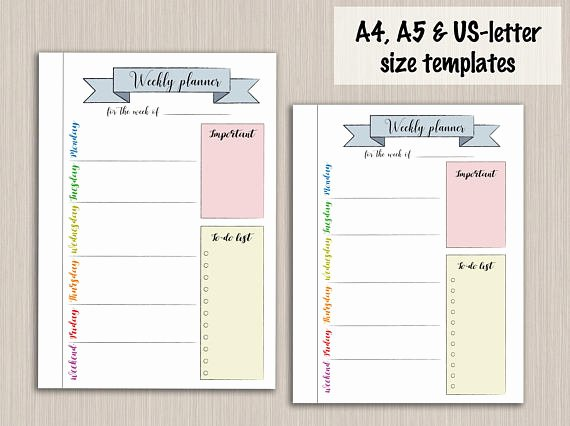 Bullet Journal Pdf Template New Bullet Journal Printable Weekly Planner Template for Bullet