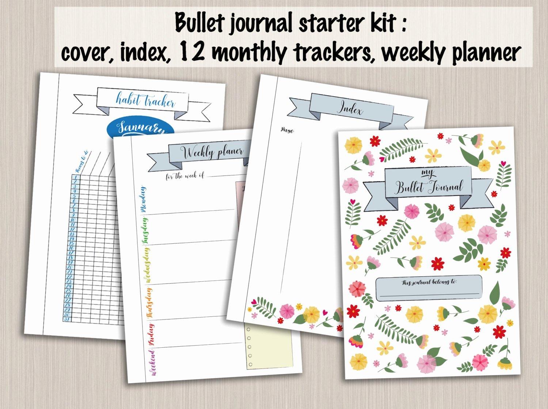 Bullet Journal Pdf Template New Bullet Journal Starter Kit Printable Template Pdf Bujo