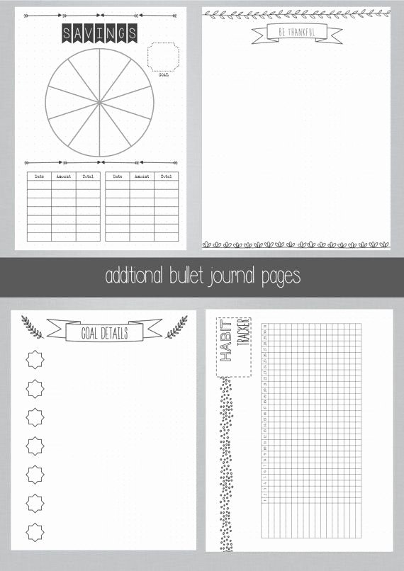 Bullet Journal Pdf Template New Bullet Journal Ultimate Collection Hand Drawn Style