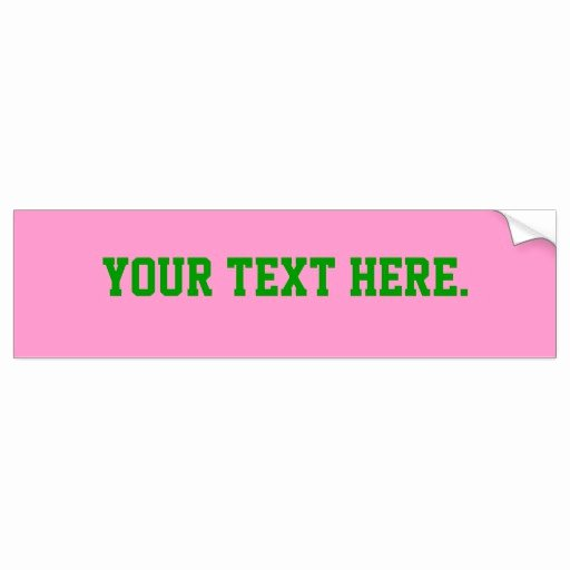 Bumper Sticker Template Free Beautiful Bumper Sticker Template Pink Ff99cc Background