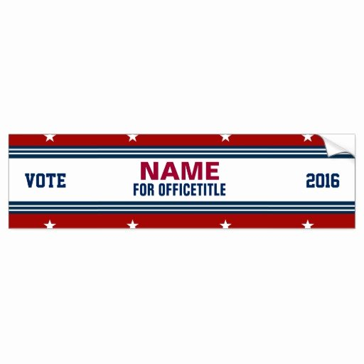Bumper Sticker Template Free Best Of Custom Campaign Political Template Bumper Sticker