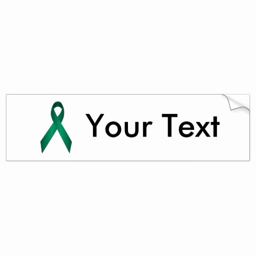 Bumper Sticker Template Free Best Of Jade Awareness Ribbon Bumper Sticker Template
