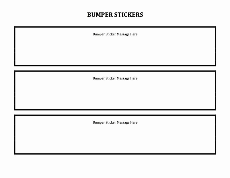 Bumper Sticker Template Free Inspirational Merging Silly and Serious for Creative Expressions Of