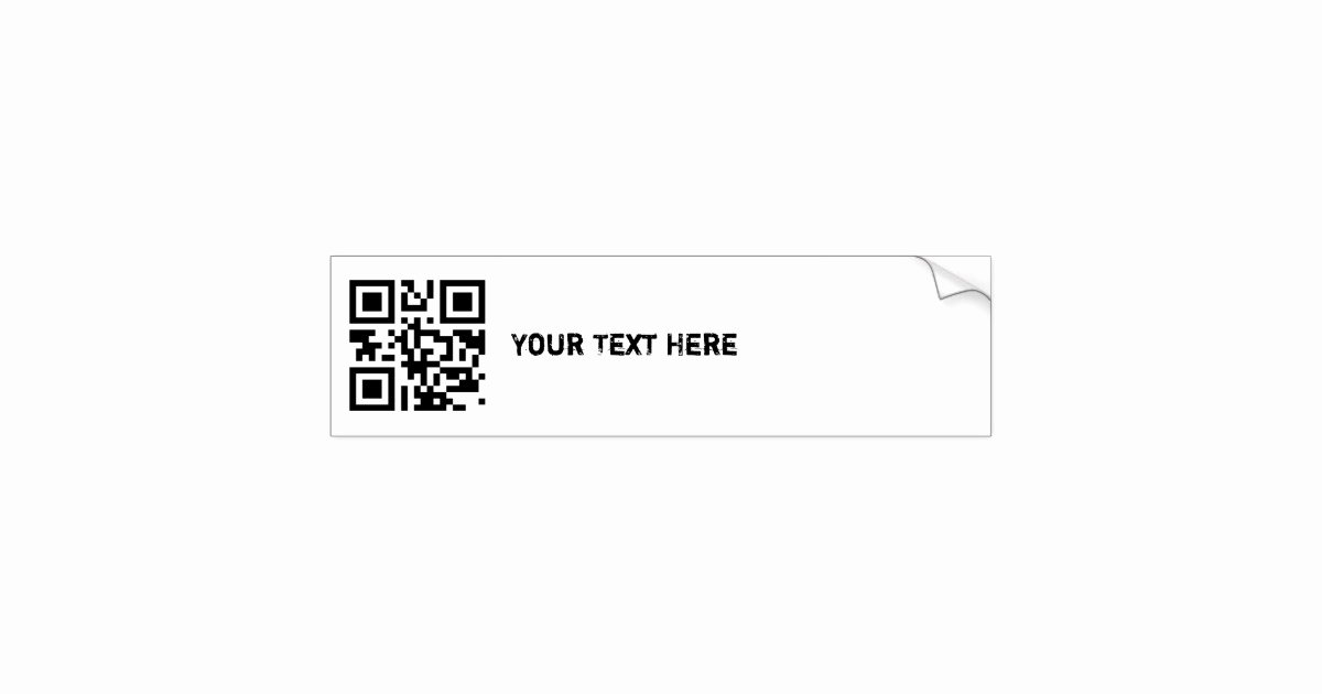Bumper Sticker Template Free Inspirational Qr Code Bumper Sticker Template