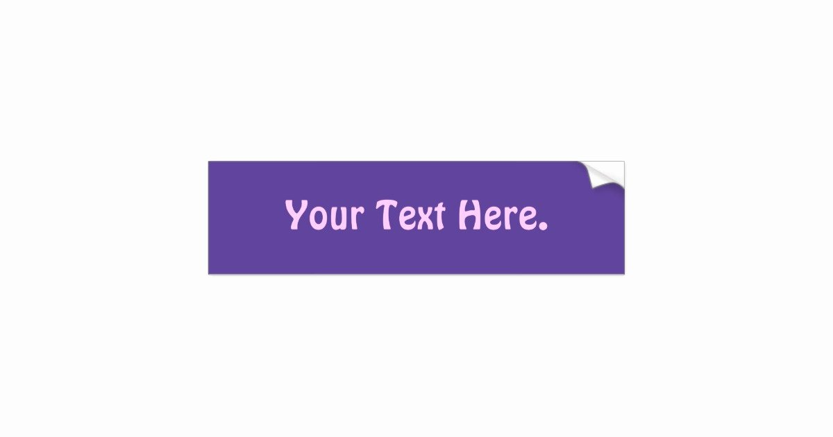 Bumper Sticker Template Free Inspirational Simple Bumper Sticker Template Purple 6600cc