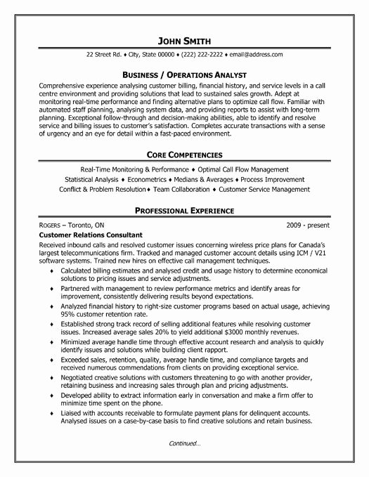 Business Analyst Resume Template Beautiful 32 Best Best Customer Service Resume Templates & Samples