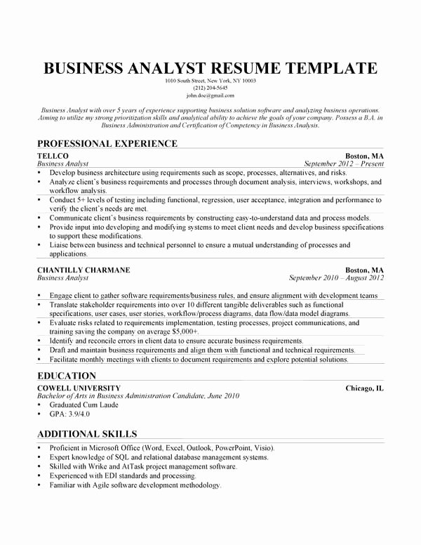 Business Analyst Resume Template Luxury How to Write College Papers Campus Explorer Business