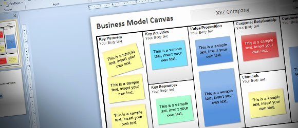 Business Canvas Template Ppt Beautiful Free Business Model Canvas Template for Powerpoint 2010