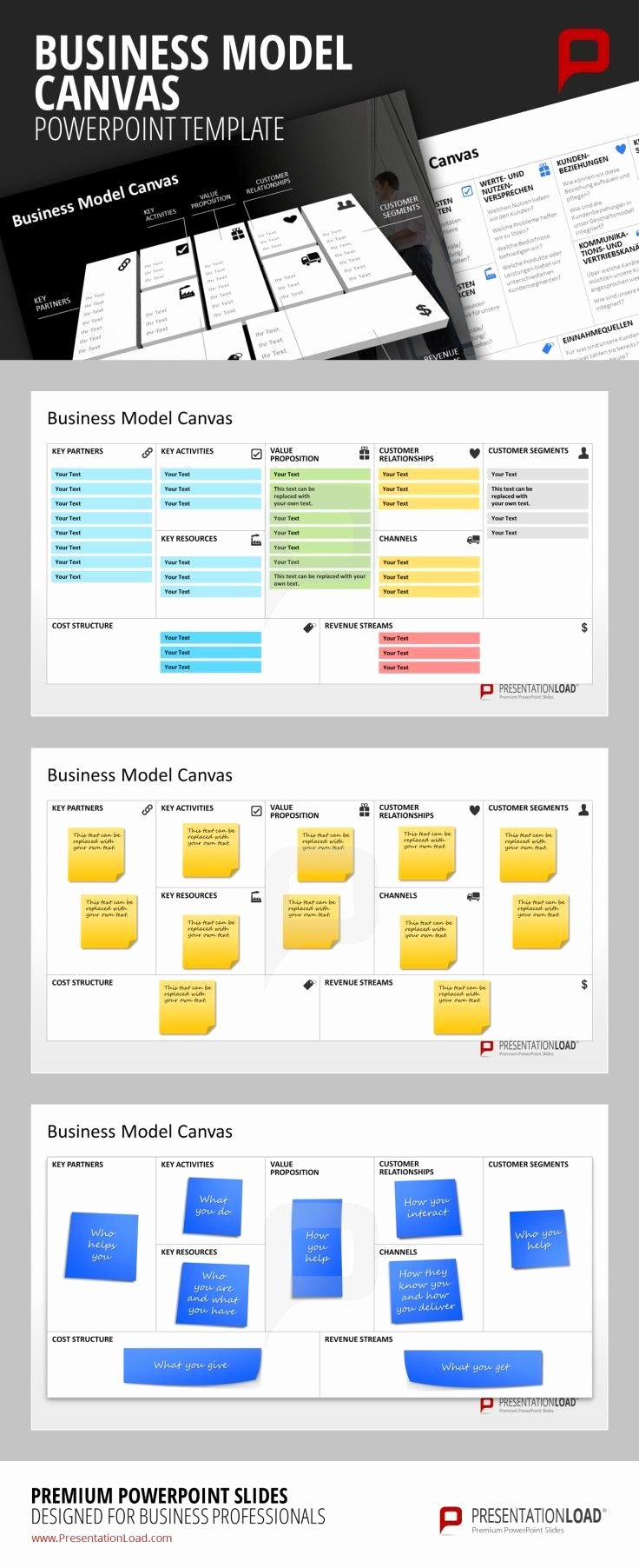 Business Canvas Template Ppt Inspirational 17 Best Ideas About Business Model Template On Pinterest