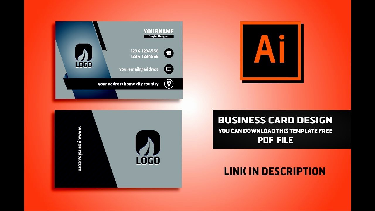 Business Card Ai Template Beautiful Business Card Template Illustrator Download Abe6267b0c50