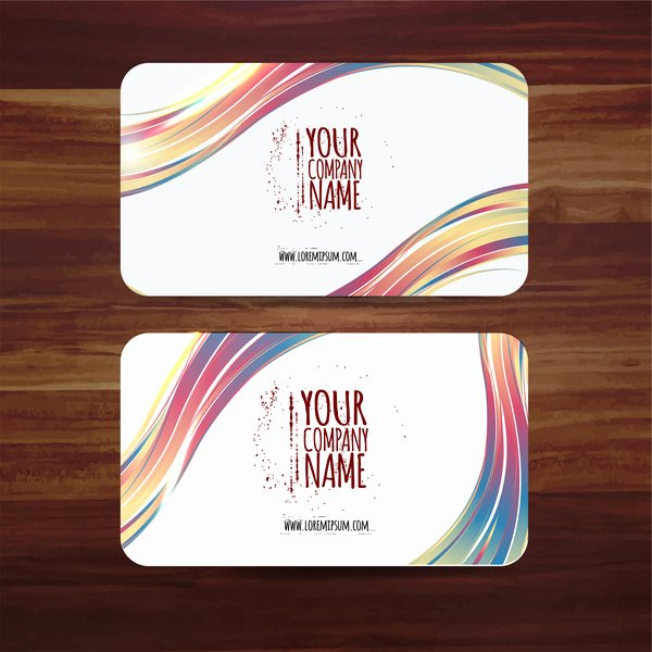 Business Card Ai Template Lovely Business Card Template Vector Illustration with Colorful