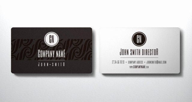 Business Card Ai Template Unique Elegant Business Card Vol1