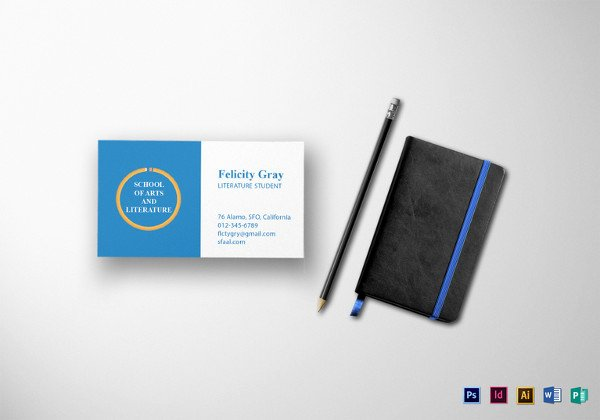 Business Card Illustrator Template Awesome 44 Free Blank Business Card Templates Ai Word Psd