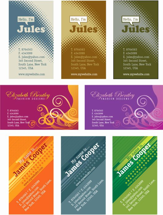 Business Card Illustrator Template Awesome Personal Business Cards