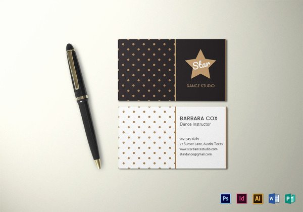 Business Card Illustrator Template Best Of 26 Music Business Card Templates Psd Ai Word