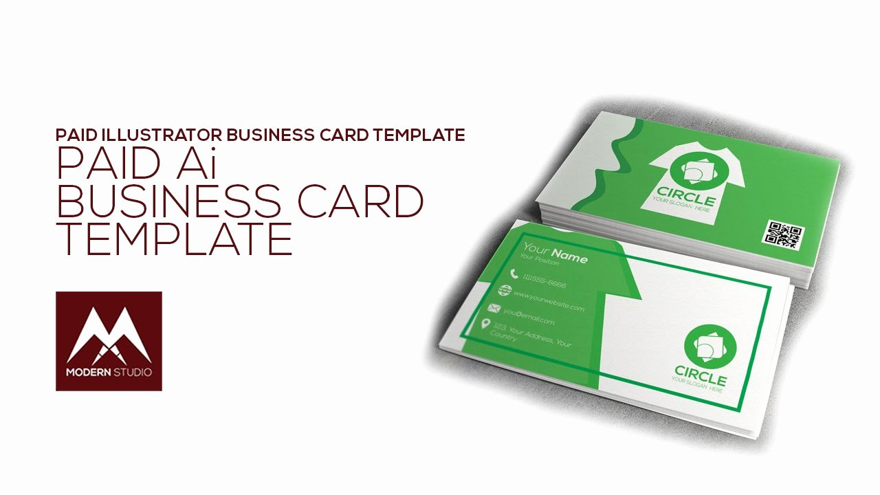 Business Card Illustrator Template Unique Business Card Template Illustrator