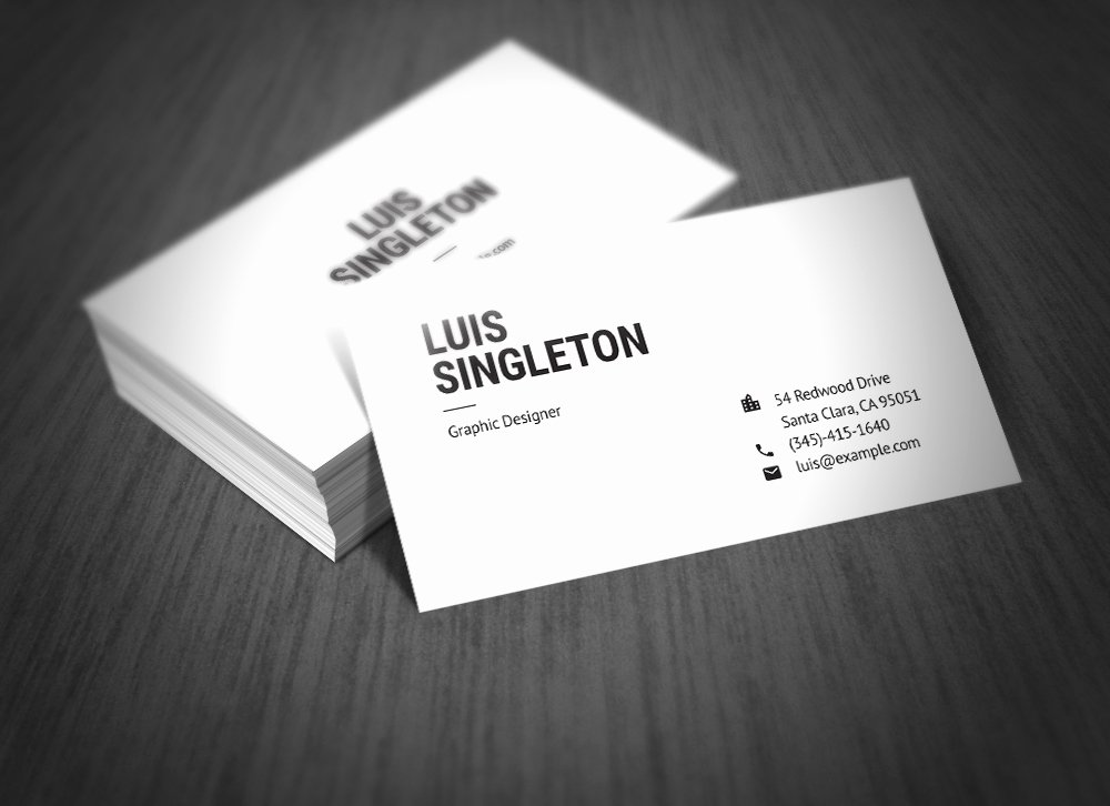 Business Card Template Ai Beautiful Clean and Minimal Business Card Template On Behance