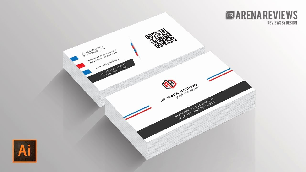 Business Card Template Ai Beautiful How to Design Business Card Template Illustrator Cc