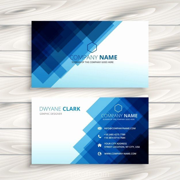 Business Card Template Ai Best Of [ai] Abstract Blue Business Card Template Vector Free