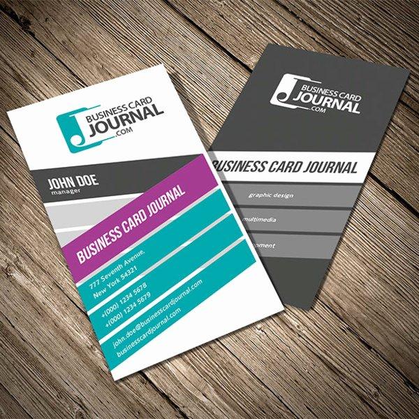 Business Card Template Ai Elegant Colorful Vertical Business Card Template Free Vector In