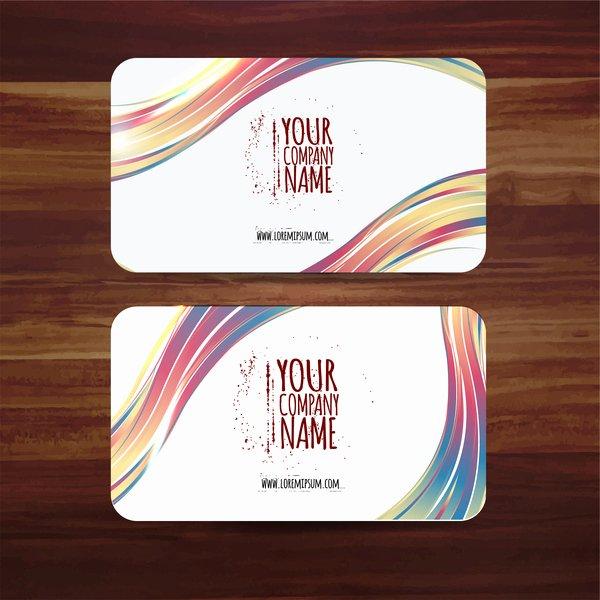 Business Card Template Ai Inspirational Business Card Template Vector Illustration with Colorful
