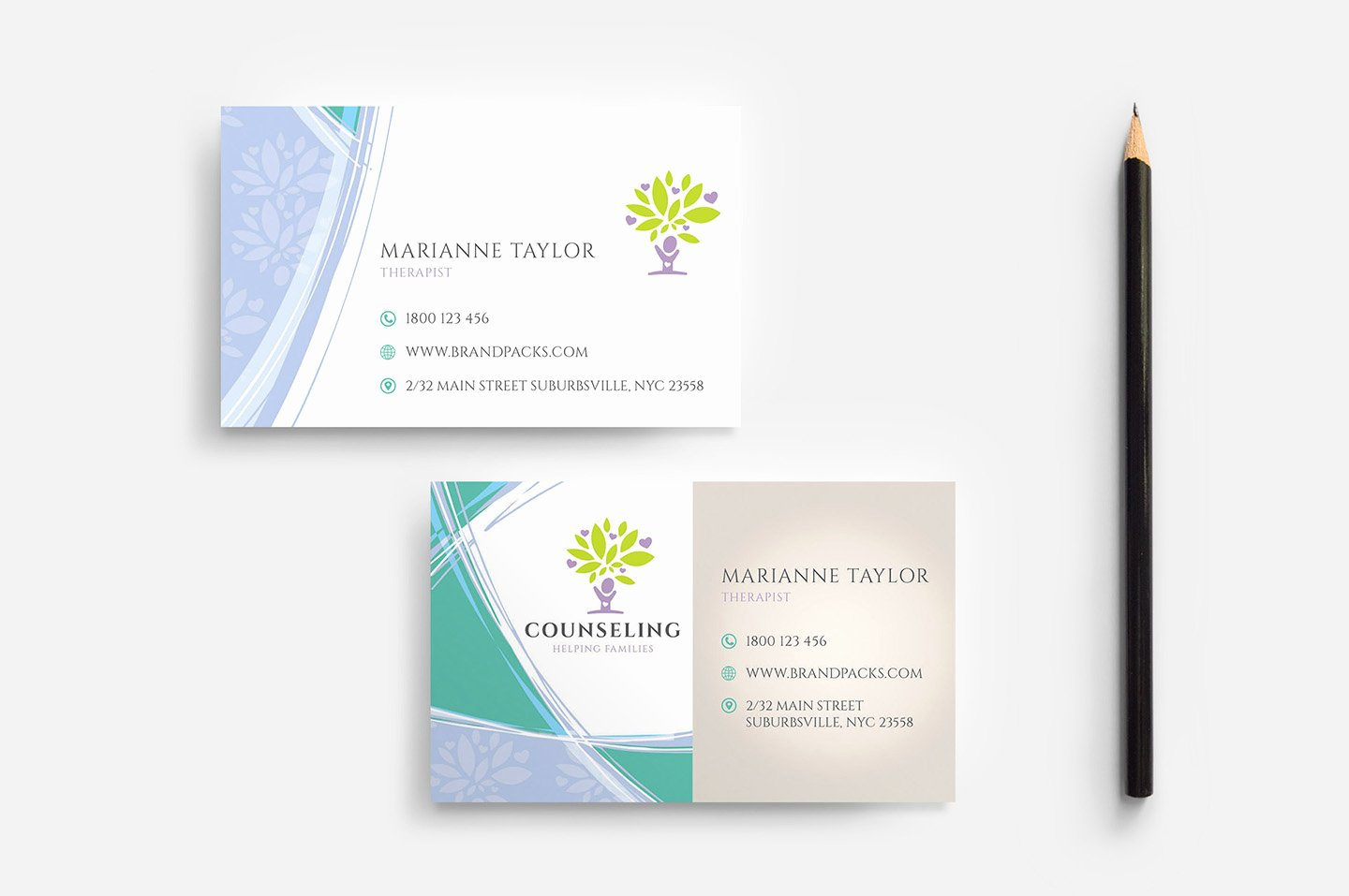 Business Card Template Ai Lovely Counselling Service Business Card Template In Psd Ai