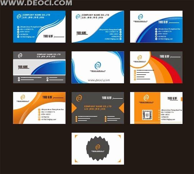 Business Card Template Ai Unique 10 Exquisite Design Business Card Design Template Cdr File