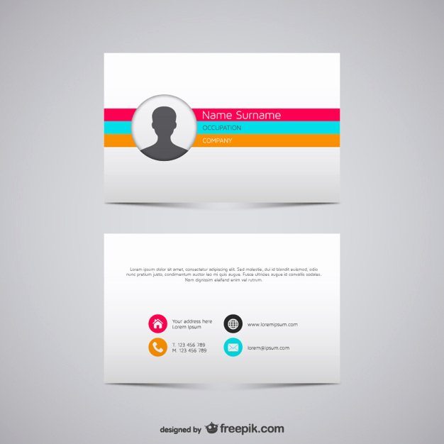 Business Card Template Ai Unique Colorful Stripes Business Card Vector