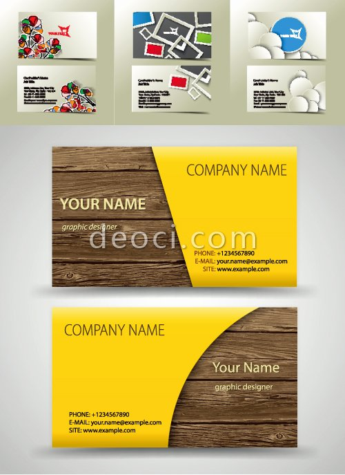Business Card Template Illustrator Beautiful Free 4 Vector Business Card Cover Background Design