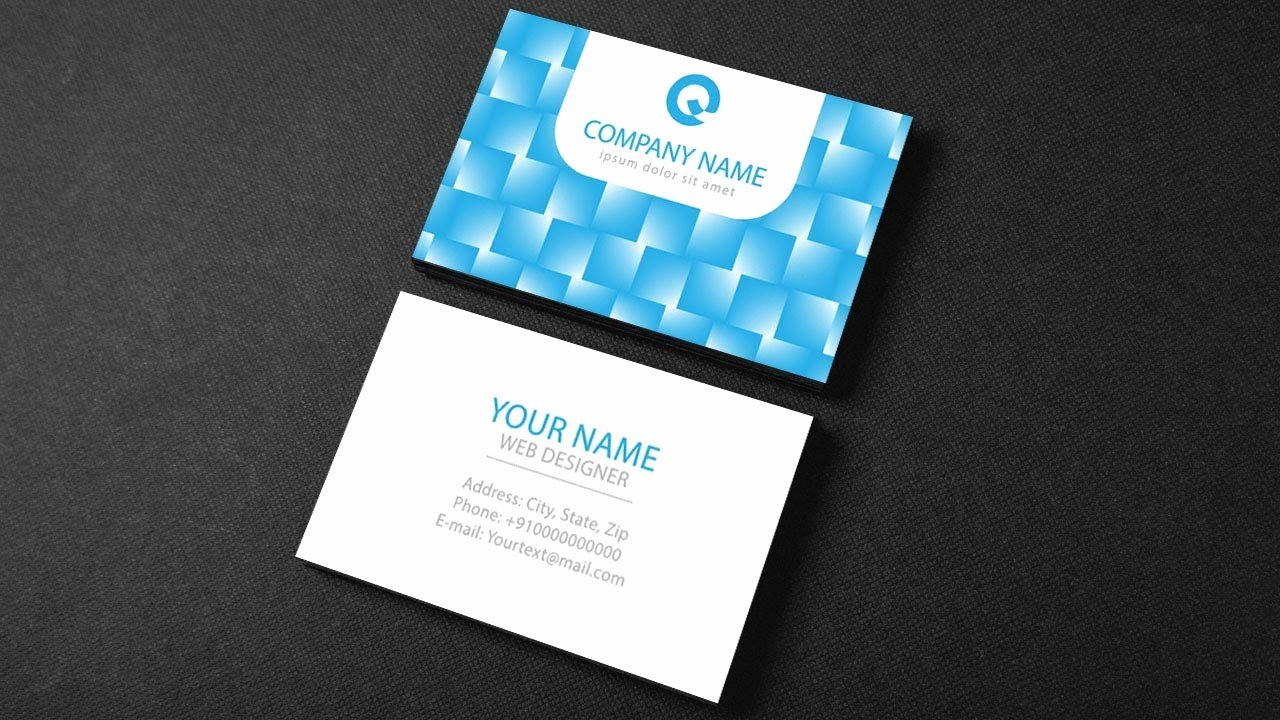 Business Card Template Illustrator Beautiful Illustrator Tutorial Business Card Design Template
