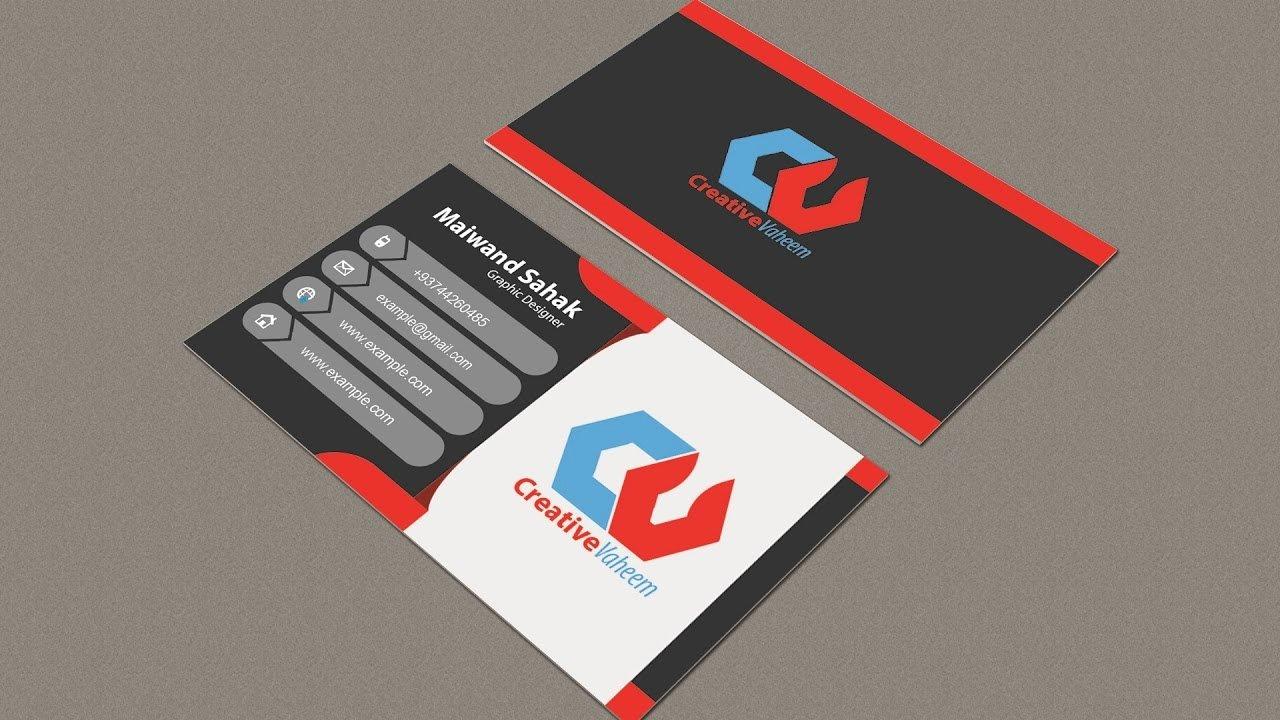 Business Card Template Illustrator Elegant Business Card Design