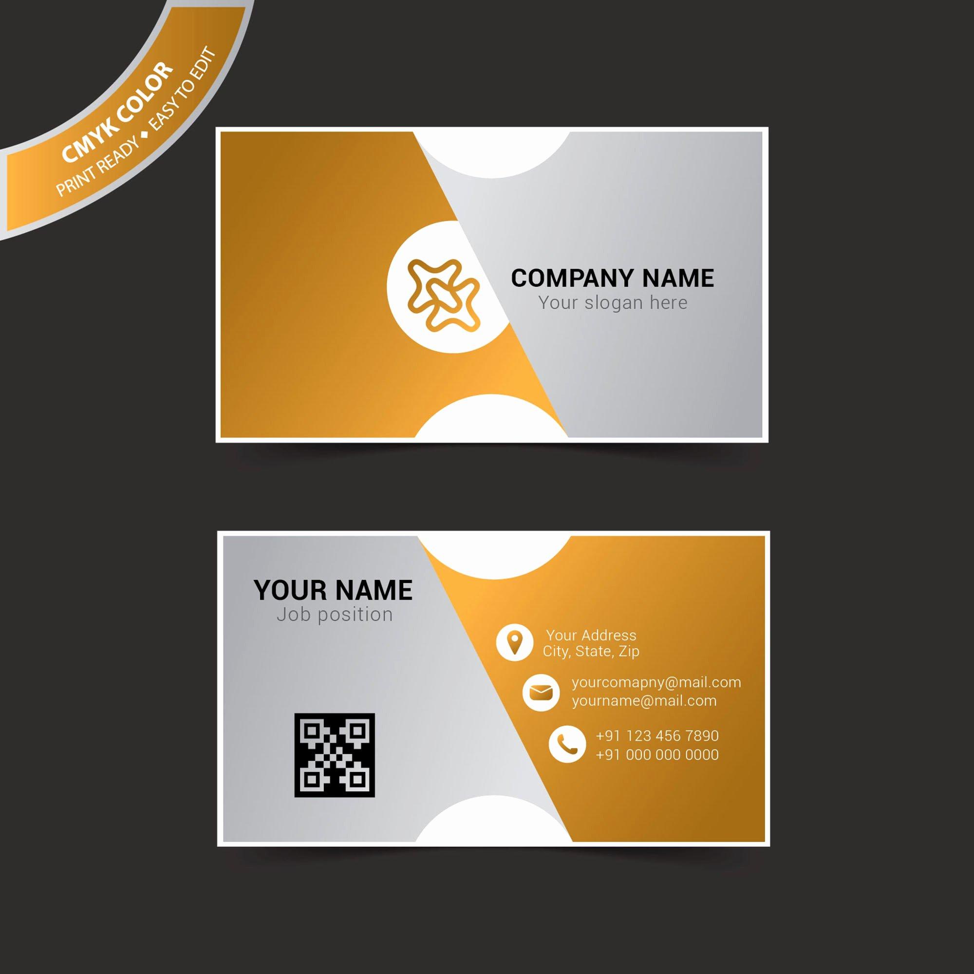Business Card Template Illustrator Fresh Business Card Template Illustrator Free Vector Wisxi
