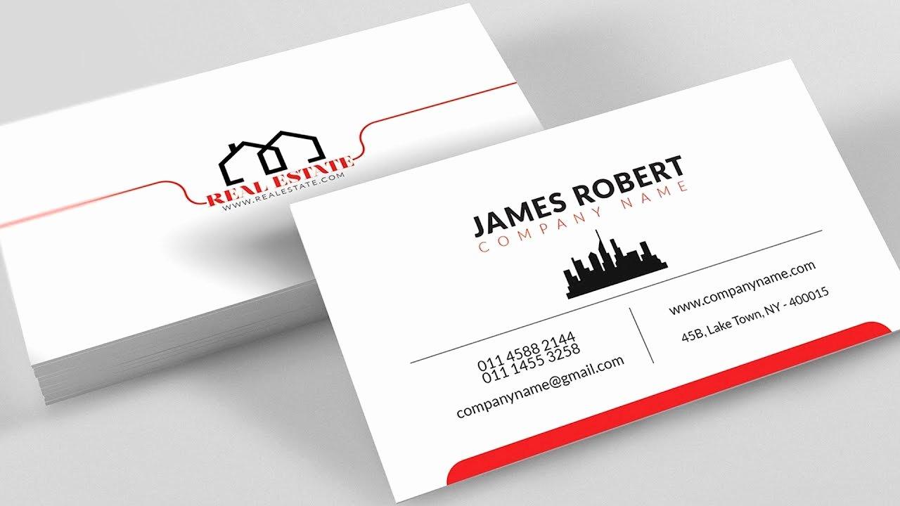 Business Card Template Illustrator Fresh Clean Illustrator Business Card Design with Free Template