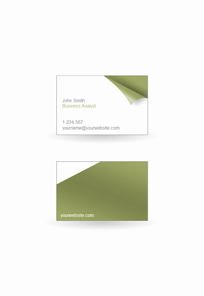 Business Card Template Powerpoint Elegant Turn the Page Business Card Template for Powerpoint