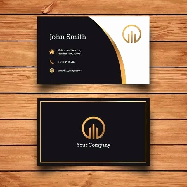 Business Card Template Powerpoint Luxury Black Gold Square Background Template and White Invitation