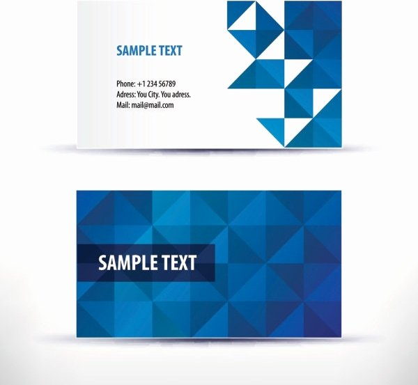 Business Card Template Powerpoint New Business Card Template Free Vector