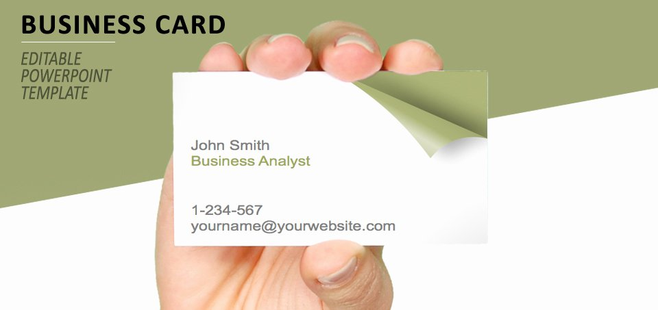 Business Card Template Ppt Best Of Turn the Page Business Card Template for Powerpoint
