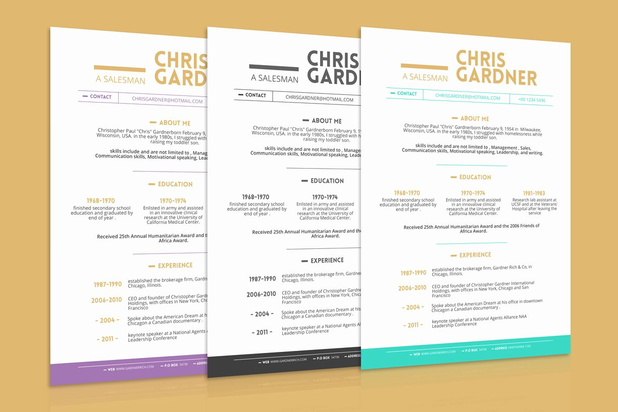 Business Card Template Ppt Elegant Free Simple Resume Cv Design Template with Business Card